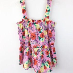 ASOS Floral Summer Top Size 14 (1164)